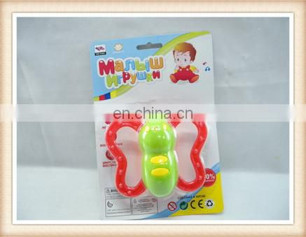 baby rattle toy,plastic funny shape baby rattle squeaky toy
