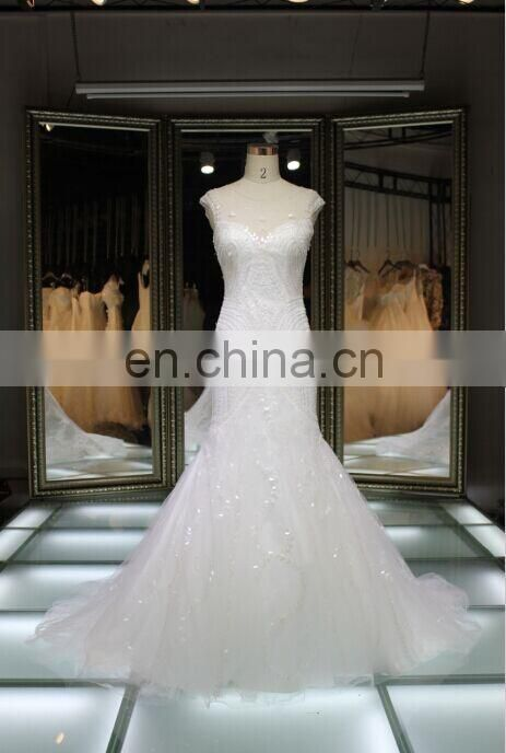 205 Latest dress designs twinkle beaded and sequins wedding dress/princess wholesale sexy modren mermaid backless wedding gown
