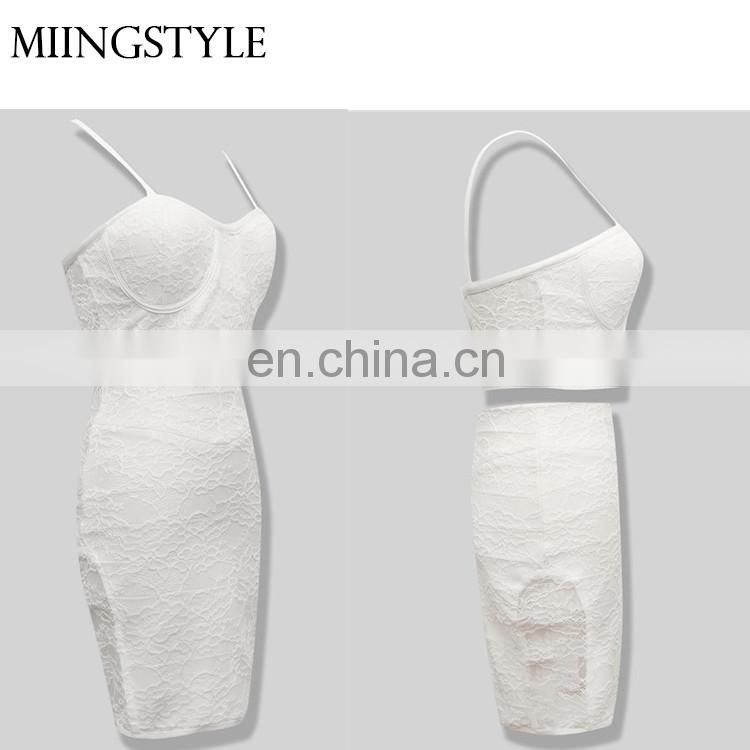 Fashion oem sexy mini dresses bandage cocktail bodycon dresses western style for women