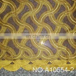 Hot sale african traditional embroidery swiss voile lace fabric plian african lace