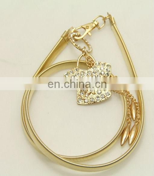 Elastic chain belt for ladies with fashion style