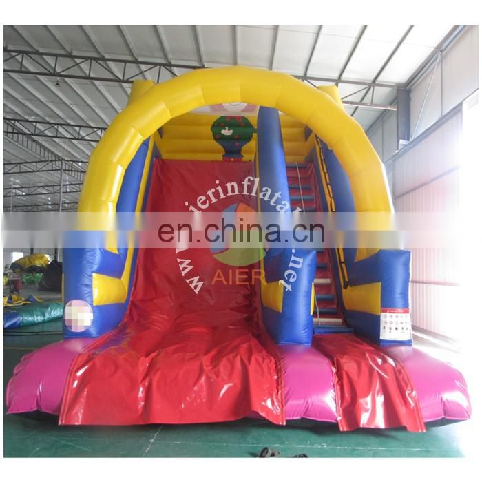 Happy Clown Inflatable Slide with arch