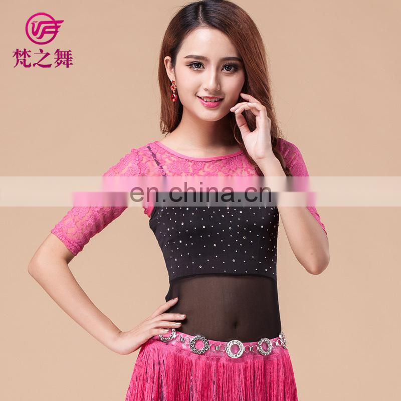 Fashion lace waistcoat bellydance top elegant belly dancing clothes professional belly dance costume top S-3076