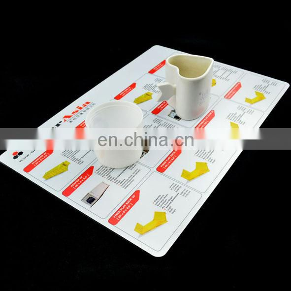 both sides laminated placemat plastic dining table mat pad