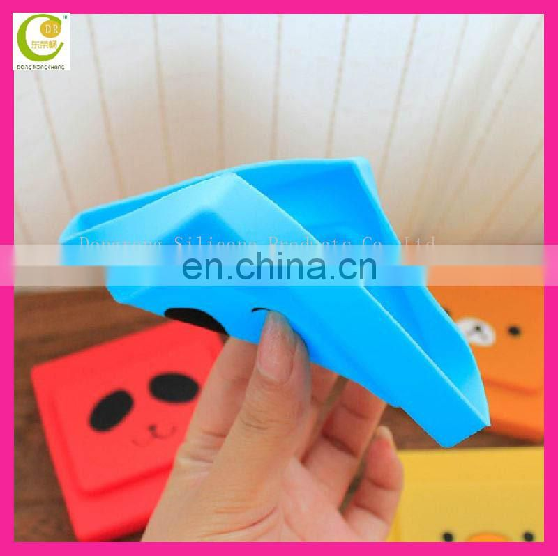 Promotional household giveaway gifts printing cute animal design eco-friendly silicone rubber locking switch cover