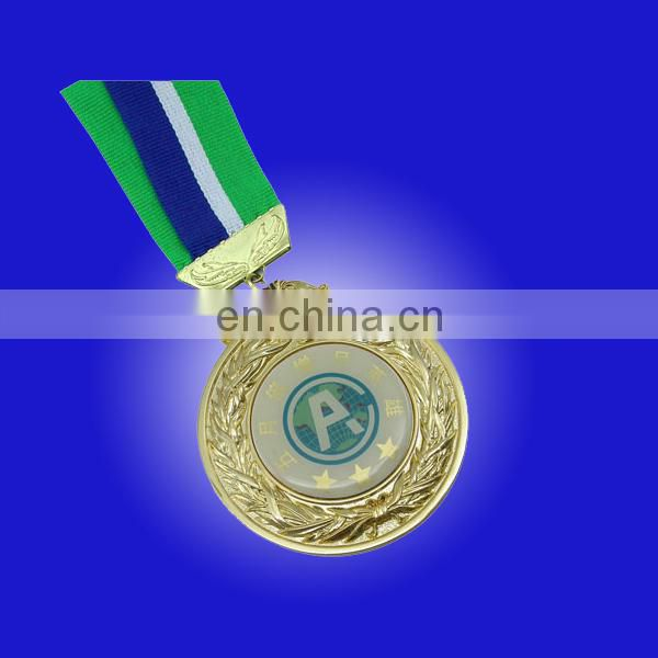 Round / Square sports medal with different finish