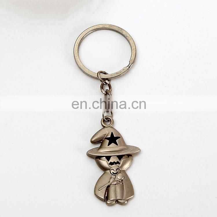 2017 New arrival witch keychain key chain ring for wholesale