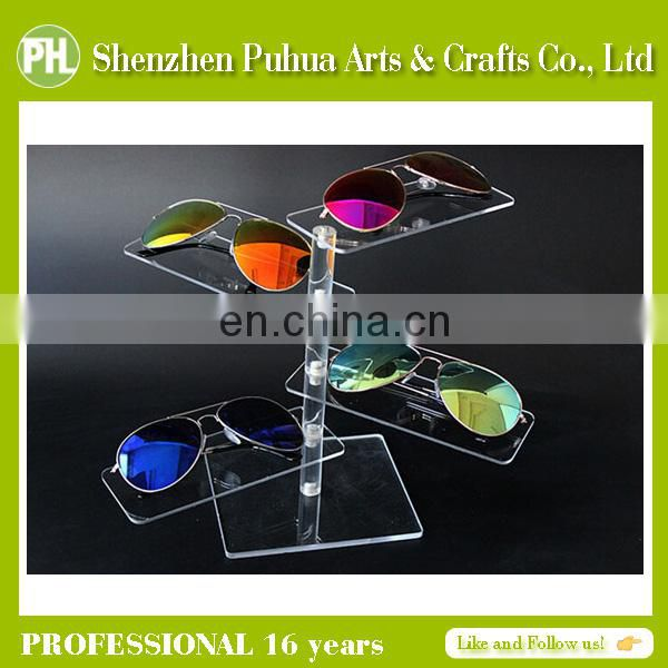 Home Perspex Desktop Glasses Display Rack, Sunglasses Display Showcase, Counter Glasses Display
