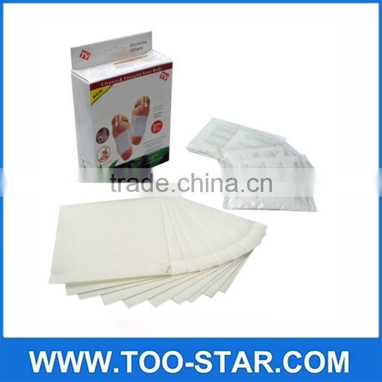 10PCS Herbal Detox Beauty Foot Pads Detoxification Cleansing Patches Weight Loss Foot Pads