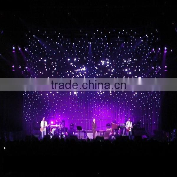 Led star curtain indoor fireproof wedding hall decorations