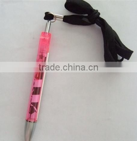 2015 muti-color transparent pull out banner pen