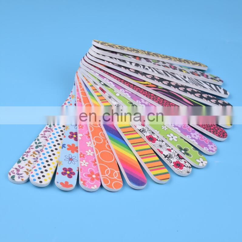 fashion Mini Emery Board Fan Nail File