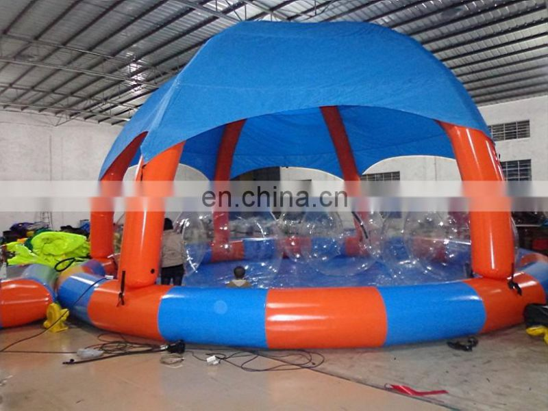 2017 giant inflatable pool float Swimming Pool Cover Tent For Sale