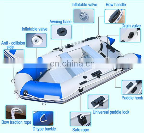 CE Certificated Military Rescue Goveronment use PVC Inflatable Boat for Sale