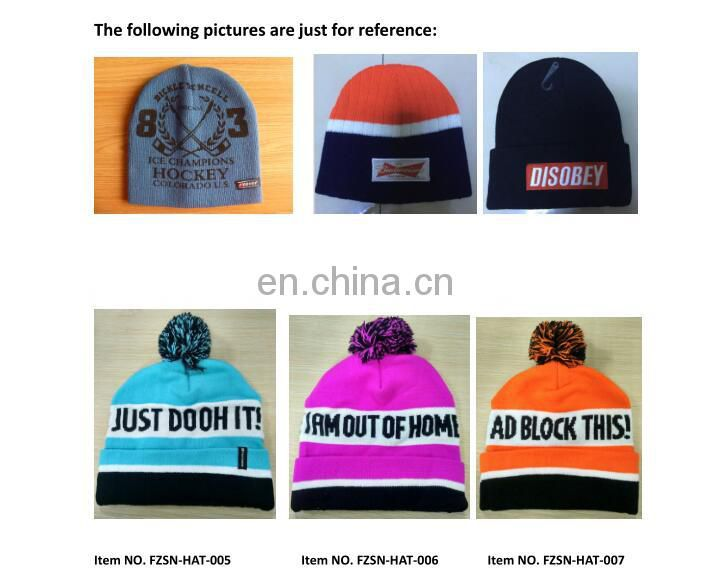 wholesale personalized winter beanies hats