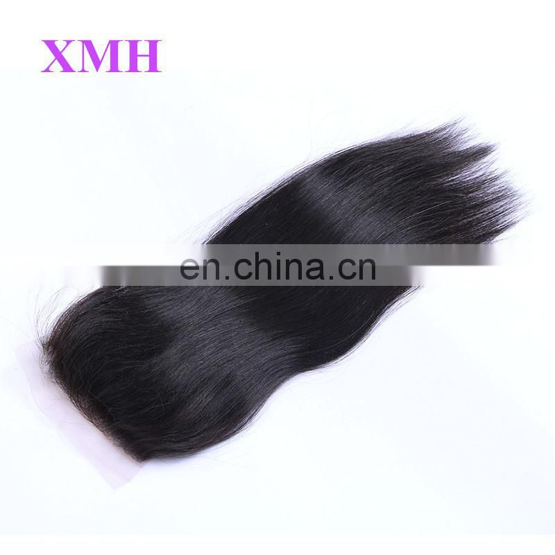 Wholesale Direct From Factory 8A Grade Free Part Straight Brazilian Virgin Hair Lace Closure Hair Piece