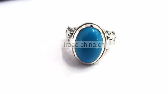 925 Sterling Silver Gemstone Turquoise Ring