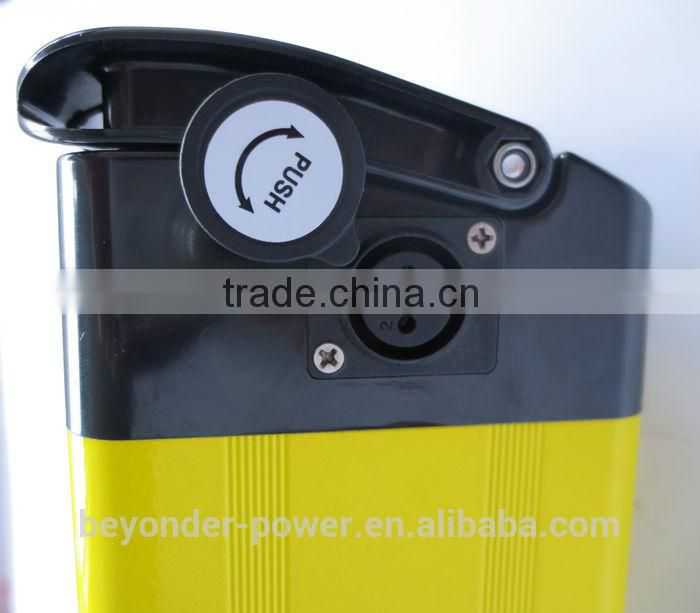 2015 new color electric bike hidden lithium battery pack with CE and RoHS and TUV