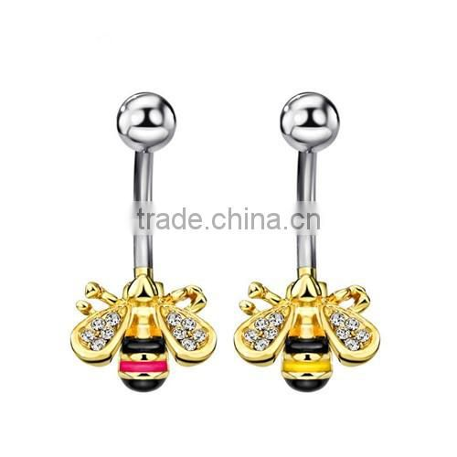 316l stainless steel animal design belly button ring navel ring body piercing jewelry rings new design wholesale