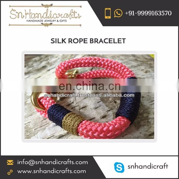 Different Varieties of Silk Rope Bracelet from Leading Manufacturer