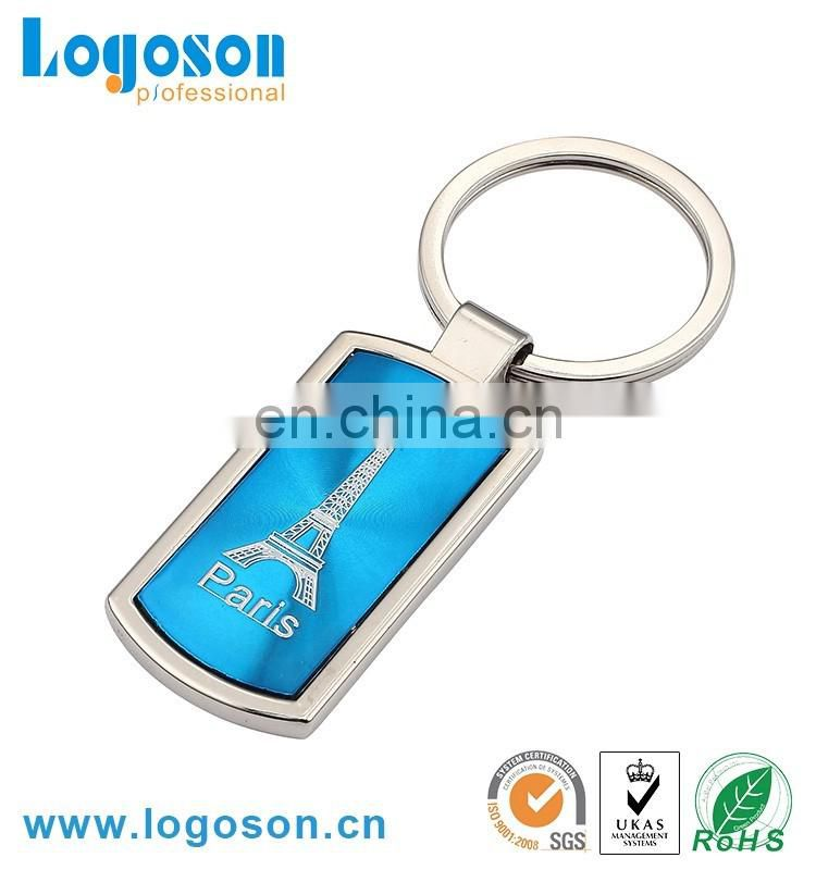 Promotional items with logo printing metal keychain