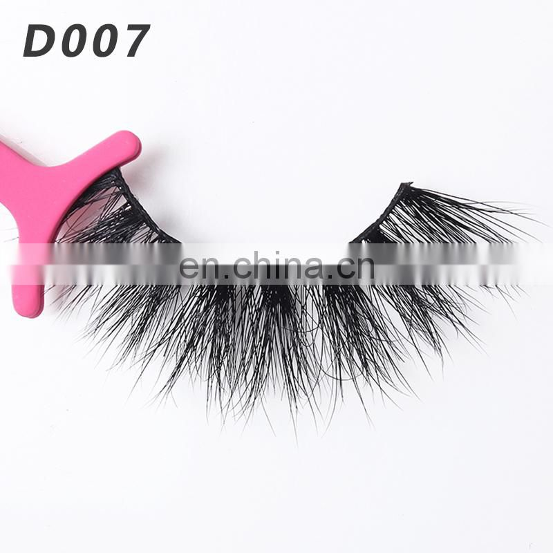 D007 Thick false lash 3d mink eyelashes with highest quality