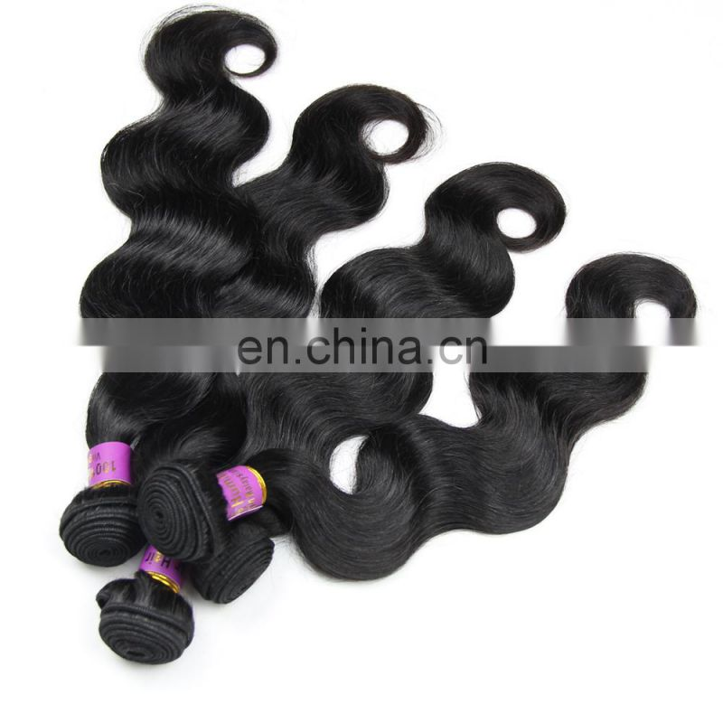 China manufacturer Indian human virgin 9A grade hair weaving in body wave raw unprocessed hair