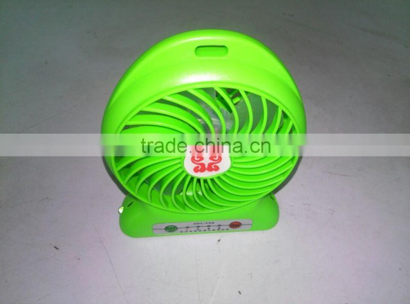 rechargeable battery operated fan with light