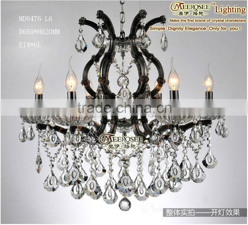 Crystal Beaded Chandelier Pendant Lighting Globes Md8476 L6