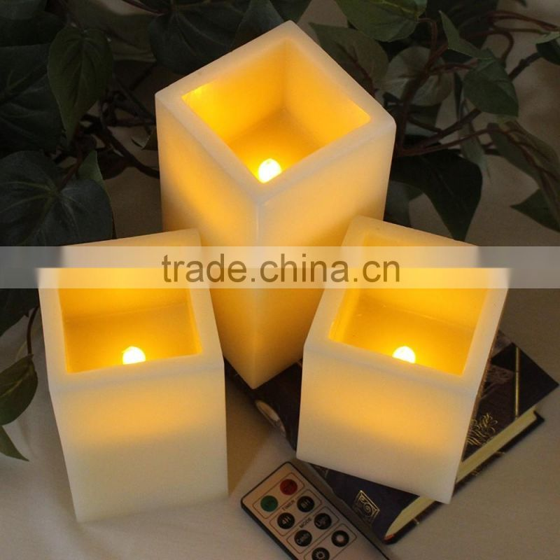 led flameless candles led flameless square pillar flickering candles home decorative candles wedding candles