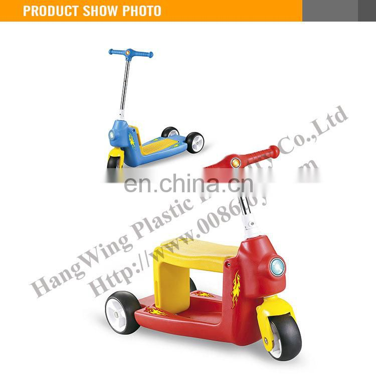 Hot Sale Kids plastic scooter car assembly scooter for kids