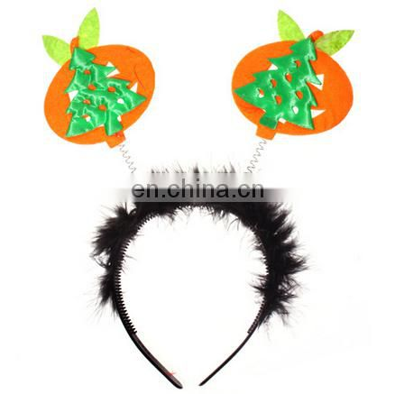 green windmill feather carnival party headband