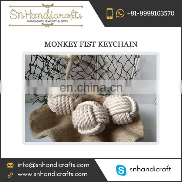 Indian Manufacturer Selling Monkey Fist Keychain at Reasonable Rate