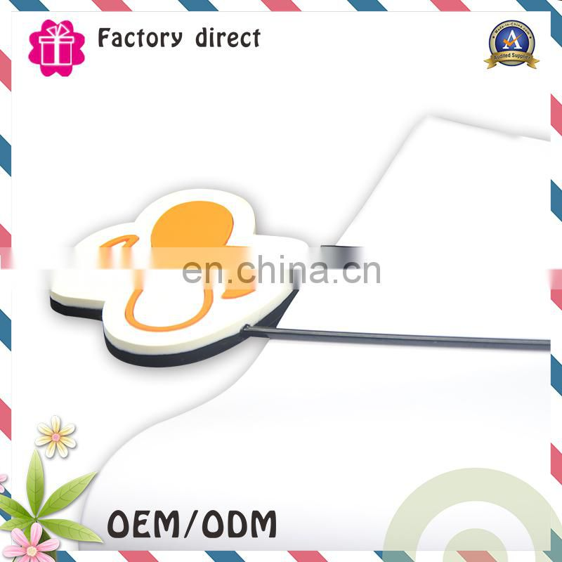 cartoon Fashion 3D soft pvc personalized paper clip