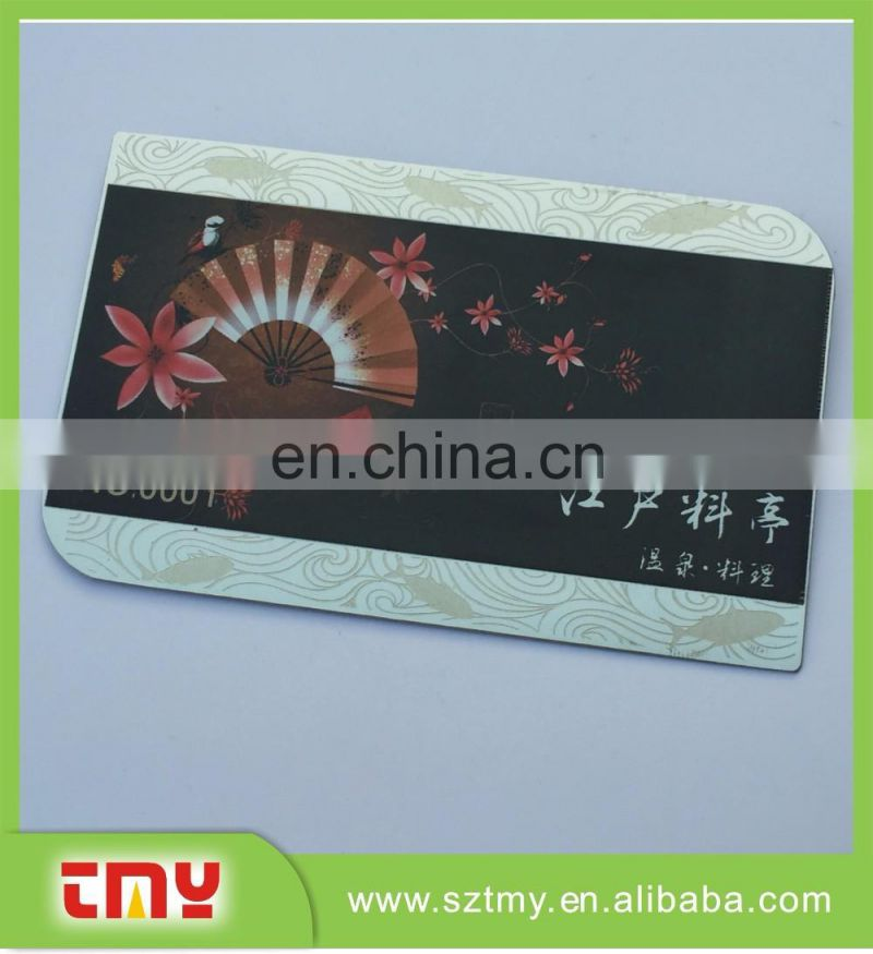 Laser cut metal credit card with printing