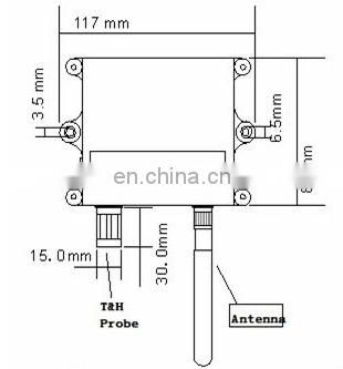 Wireless Long Range Wall-mounted Temperature&Humidity Sensor rs485 temperature humidity sensor