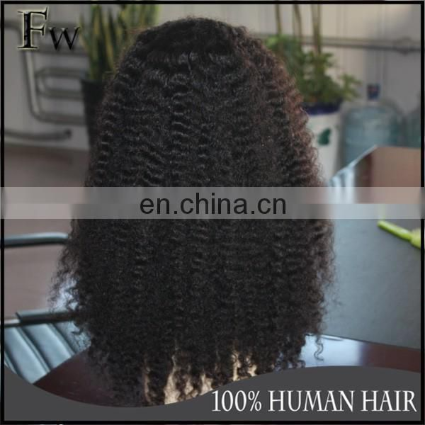 thick cheap 100% human hair lace wig afro curl lace front wig for black woman
