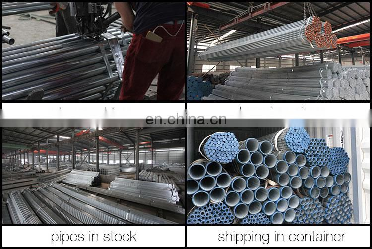 BS 1387  galvanized steel tube pre galvanized steel tube 1 inch caliber