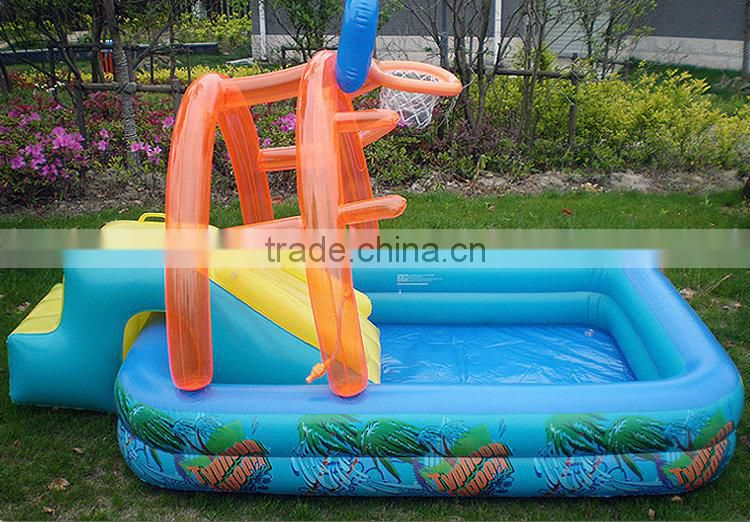 High Quality Inflatable Pool With Slide And Basketball Bouncer Kids Water Park Home Backyard Swimming Pool Of Textile Gifts From China Suppliers 108597643