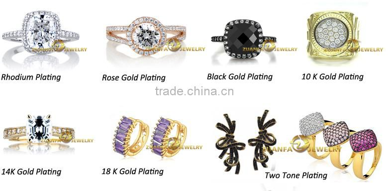 wholesale semi joias brincos brass rhodium plated zirconia cuff earrings jewelry