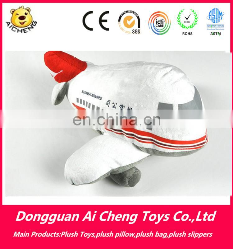 Lovely custom plush airplane toy for flight gift OEM plush toy factory