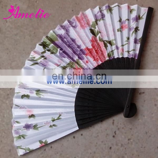 A-F07 1C logo printing red customized hand fans