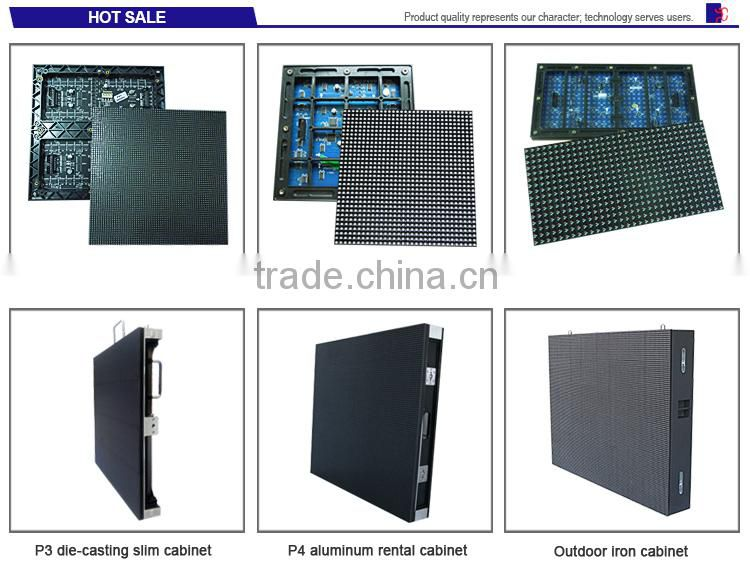 hot sale wholesale price high brightness full color DIP aluminum die-casting p10 led display cabinet