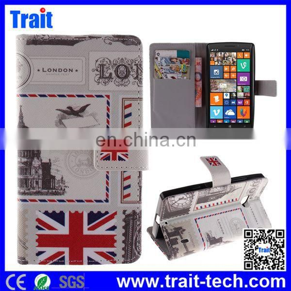 Alibaba China Supplier Cross Pattern Wallet Style Magnetic Flip Stand leather case for nokia lumia 930