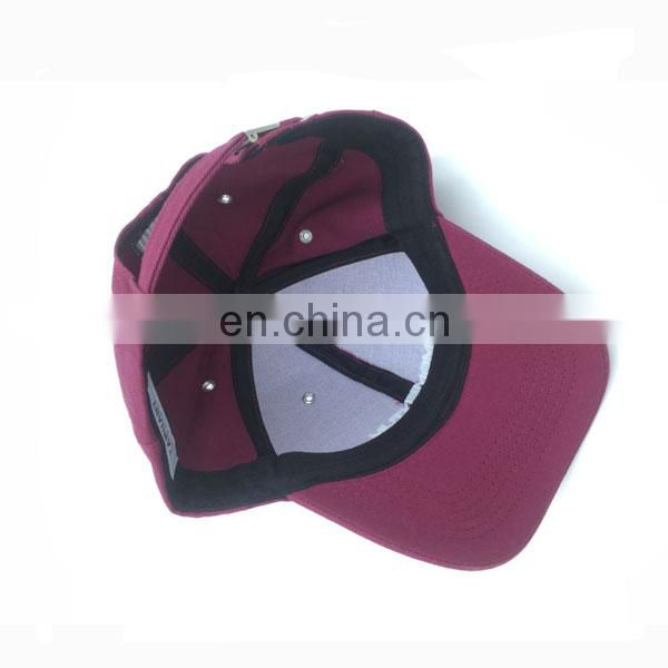 custom high quality 6 panel embroidery baseball cap/hat