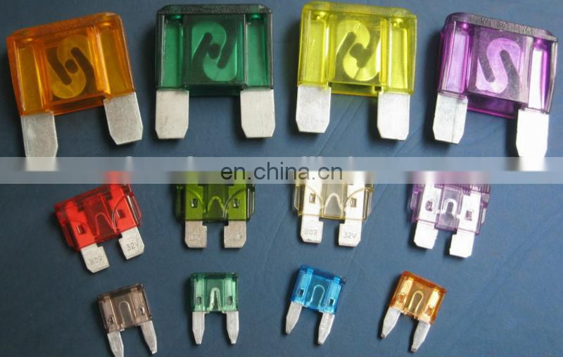 HOT SELL Blade auto fuses(mini type, medium type&max type with high quality)
