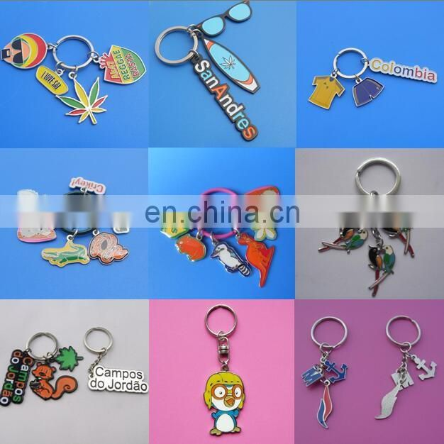 metal letter logo customized company souvenir gift soft enamel keychain