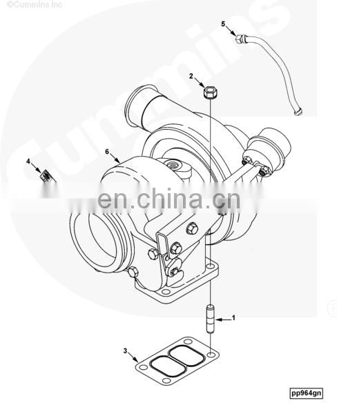 High quality 6CT dongfeng truck parts turbocharger HX40W 3783603