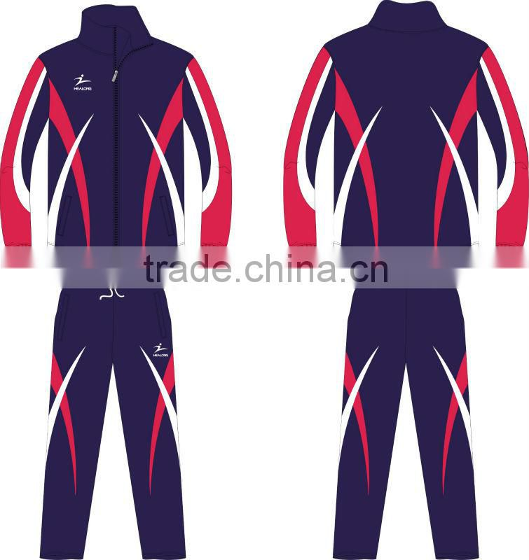 Blue Color Sports Custom Tracksuit Cheap
