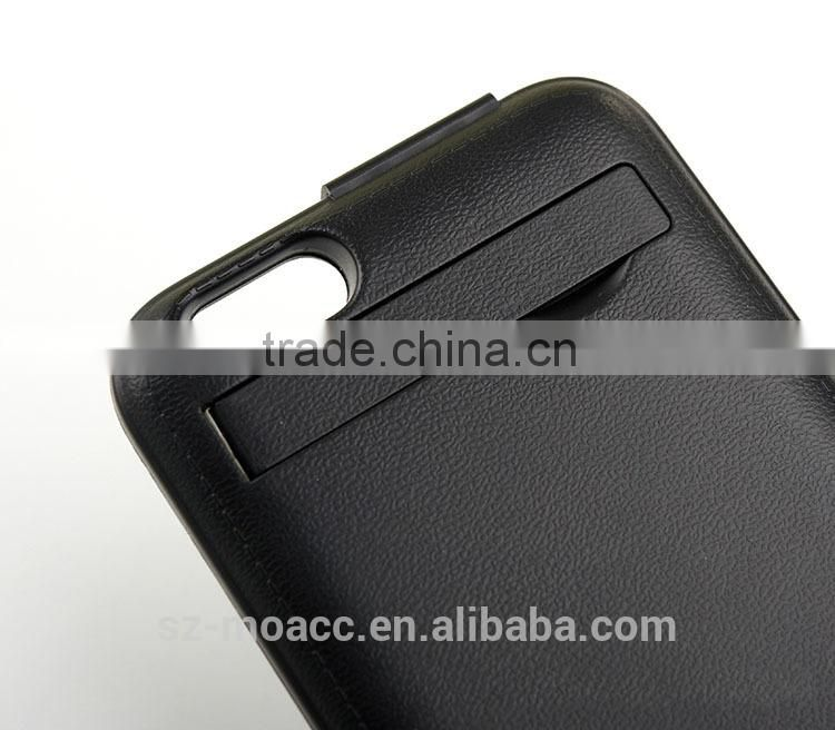 China Wholesale 2800mAh leather flip battery case for iphone 6